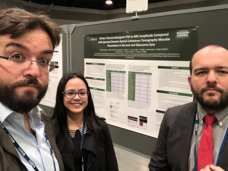 Doutores Fábio e Daniel Lavinsky apresentam resultados de suas pesquisas no ARVO 2019
